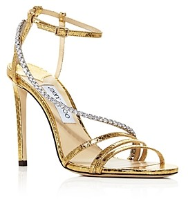 Jimmy Choo Women's Thaia 100 Strappy High-Heel Sandals