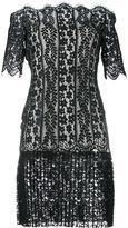 Huishan Zhang - off-shoulder lace dress - women - Silk/Nylon/Polyester - 8