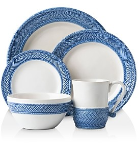 Juliska Le Panier White/Delft 5pc Setting