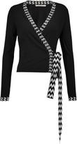 Diane von Furstenberg Sequin-trimmed silk-blend cardigan