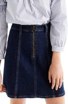 J.Crew Women's Zip Front Denim Skirt
