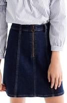 J.Crew Women's Zip Front Denim Skirt