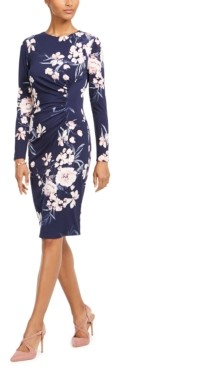 Harper Rose Long-Sleeve Floral Sheath Dress
