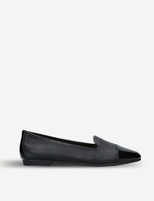 Carvela Mercy patent toe leather flats