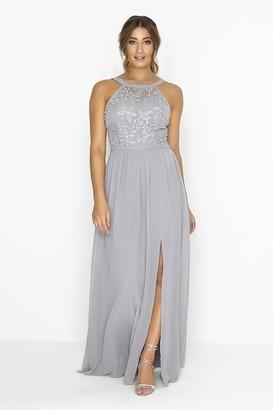 Little Mistress Grey Maxi Dress