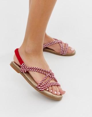 Park Lane rope striped sandals