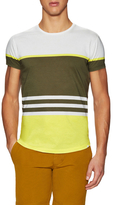 Orlebar Brown Cotton Graphic Striped Crewneck Tee