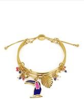 Juicy Couture Toucan Cluster Bangle Bracelet