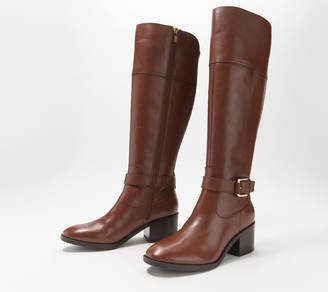 Marc Fisher Wide Calf Leather Tall Shaft Boots - Riley