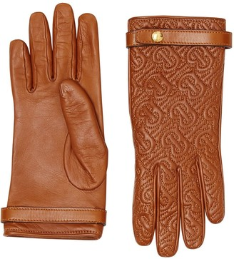 Burberry quilted monogram gloves