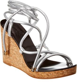 Jimmy Choo Allis 95 Leather Wedge Sandal