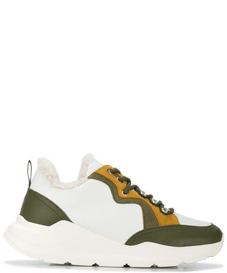 Yves Salomon Colour Block Sneakers