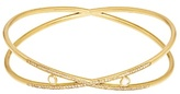Susan Foster Diamond & yellow-gold bangle
