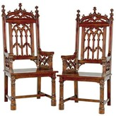 Toscano Gothic Tracery Cathedral Solid Wood Dining Chair Design