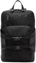 Versace Black Nylon Zip Backpack