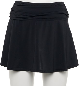 Women's A Shore Fit Solid Swim Cover-Up Skirt