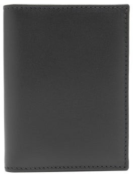 Comme des Garcons Bi-fold Leather Wallet - Black