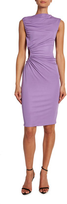 Tom Ford Crepe Jersey Shirred-Cutout Cocktail Dress