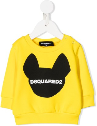 DSQUARED2 Dog Logo Print Sweatshirt