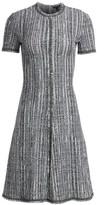 St. John Ribbon Texture Wool-Blend Dress