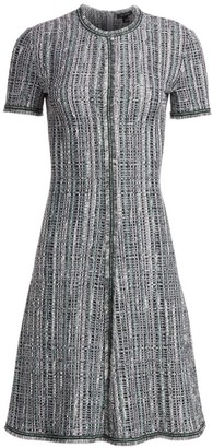 St. John Ribbon Texture Wool-Blend Dress