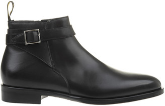 Doucal's Black Smooth Leather Man Ankle Boot With Buckle