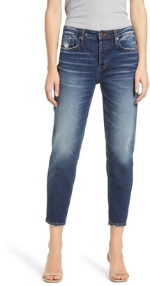 Vigoss Frankie Distressed High Waist Crop Slim Straight Leg Jeans