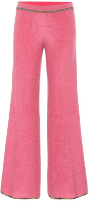 Missoni Low-rise flared stretch-knit pants