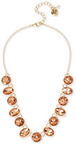 Betsey Johnson Pink-Plated Gold-Tone Multi-Stone Collar Necklace