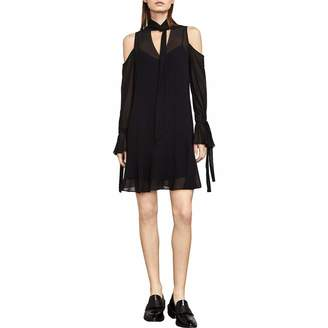 BCBGMAXAZRIA Azria Women's Arieta Cold-Shoulder A-Line Dress