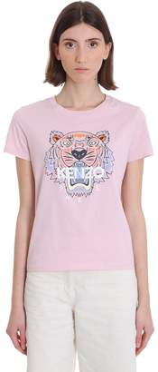 Kenzo T-shirt In Rose-pink Cotton