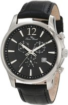 Lucien Piccard Men's 11567-01 Adamello Chronograph Textured Dial Leather Watch