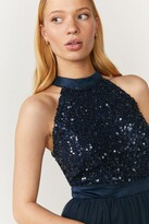 Thumbnail for your product : Coast Sequin Bodice Halter Midi Dress