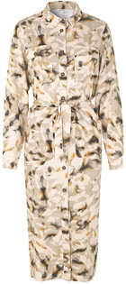 MBYM Mix Long Sleeve Eelena Shirt Midi Dress XS