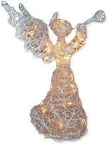 39-Inch Wire Angel Decoration with Clear Lights