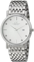 Adee Kaye Men's Quartz Stainless Steel Dress Watch, Color:Silver-Toned (Model: AK4801-M/SV)