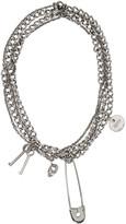 Alexander McQueen Silver Pin & Skull Necklace