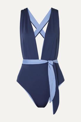 Skin - The Domino Reversible Swimsuit - Navy
