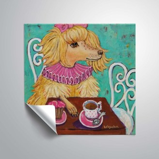 ArtWall Proper poodle, Removable Wall Art Mural by Holly Wojahn