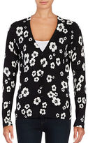 Lord & Taylor Floral Knit Cardigan