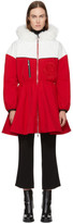 Moncler Gamme Rouge Red and White Down Jiya Kwon Coat
