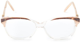 Saint Laurent Pre-Owned marbled glasses