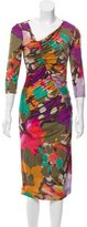 Etro Abstract Print Ruched Dress