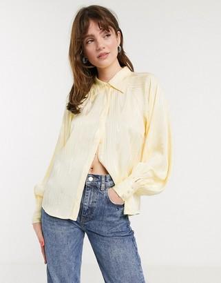 InWear Camelia volume sleeve shirt in yellow