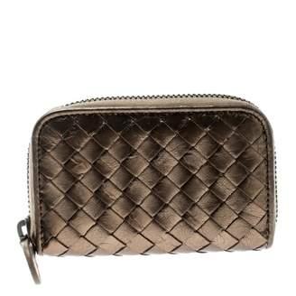Bottega Veneta Metallic Leather Wallets