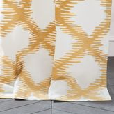 west elm Trellis Clipped Jacquard Curtain - Sand Yellow