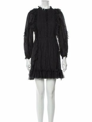 Ulla Johnson Mock Neck Mini Dress Black