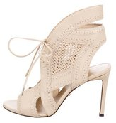 Roberto Cavalli Perforated Lace-Up Sandals