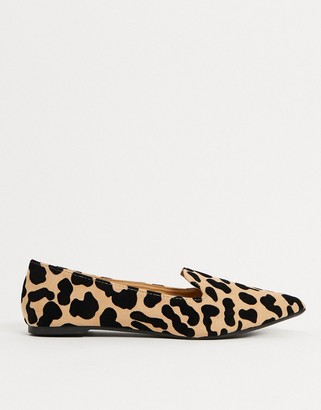 Qupid flat shoes in leopard