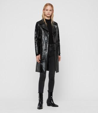 AllSaints Ali Leather Mac